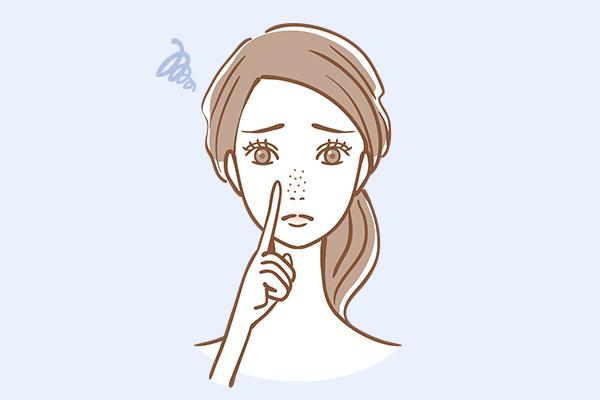 毛穴の開き・黒ずみの原因